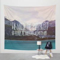 Escape x Alaska Wall Tapestry by Leah Flores