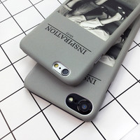 Ultra thin Matte Case For iphone 7 6 6S Plus Funda Fashion Western Style Printing Phone Cases High Quality Frosted Hard PC Cover