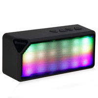 High Quality X3S Mini Wireless Colorful LED Lights Pulse Bluetooth 2.0 Speaker Support Handsfree TF AUX FM Radio for Smartphone