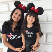 Mother Daughter  T Shirt  Minnie Me