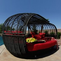 Waldorff's: Patio Furniture Handcrafted Outdoor Wicker Daybed $5999.00