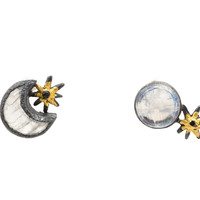 Lunar Gazing Stud Earrings