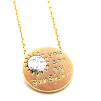 you are my sunshine necklace, sunshine necklace, bridesmaid necklace, eternity necklace, woman necklace, love necklace, girls necklace