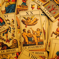 rare MULLER vintage tarot cards 78  FORTUNE TELLING display halloween metaphysical new age reading framing Tarot cards spooky card Antique