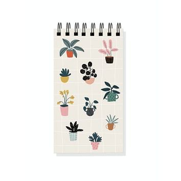 House Plants Mini Spiral Notepad