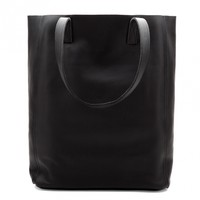 Leather Tote Black (Tall) | Cuyana Shop