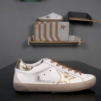 GOLDEN GOOSE GGDB PRIVATE EDT Superstar Gold White Leather Sneakers - Best Deal Online