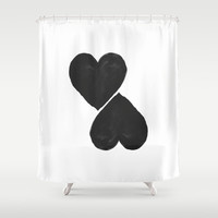 two hearts Shower Curtain by Her Art
