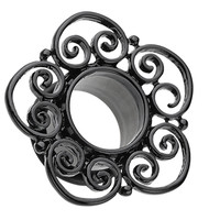 Blackline Floral Filigree Single Flared Tunnel Plug