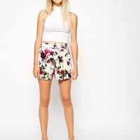 ASOS Culotte Shorts in Floral Print