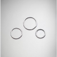 Seamless Septum Ring 3 Pack - 16 Gauge - Spencer's