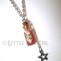 Happily Ever After  Glass Bottle Cork Necklace  by LittleGemGirl