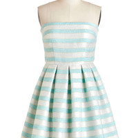 ModCloth Mid-length Strapless A-line Second to Stun Dress