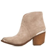 Jeffrey Campbell for Women: Cahuenga Taupe Western Booties
