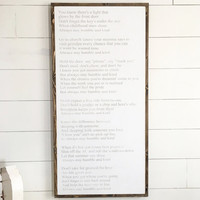 Humble & Kind Lyrics Sign