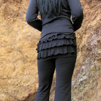 Ruffle Bum Yoga Pants