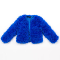 Bright Blue Feather Jacket