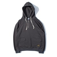 Men's Fashion Boyfriend Vintage With Pocket Hats Pullover Zippers Hoodies [7929488963]