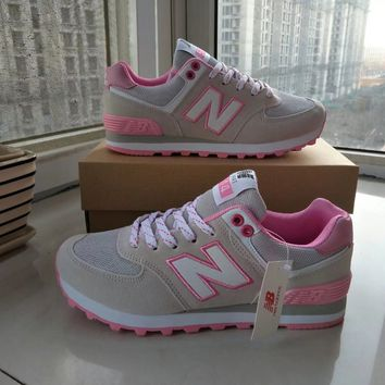 """New Balance"" Fashion Casual All-match Letter Print Breathable N Words Sneakers Women Running Shoes"