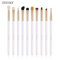 docolor Professional 10 Pcs/Sets Eye Shadow Concealer Eyebrow Lip Brush Makeup Brushes Comestic Tool Make Up Eye Brushes Set