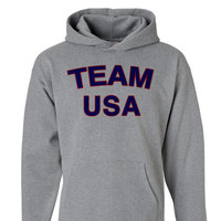 Team USA Hoodie   4th of July Shirt   Fourth of July Sweatshirt   Womens 4th of July Clothing Team USA Hoodie Pullover Fourth of July Mens