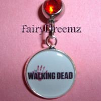 The Walking Dead Bloody Hand Print Belly Navel Ring Jewelry