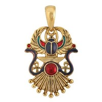 Egyptian Winged Scarab Pendant Jewelry Accessory Egypt Necklace Art