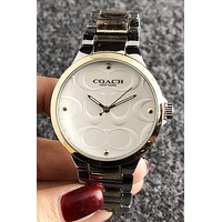 Coach Woman Men Fashion Quartz Classic Wristwatch Watch