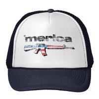 Merica distressed Rifle Hat from Zazzle.com
