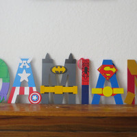 Best Seller! Superhero Letter Art