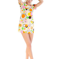60s Psychedelic Party Dress - Vintage