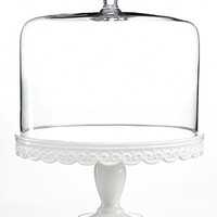 Martha Stewart Collection Serveware, Embossed Cake Stand with Dome
