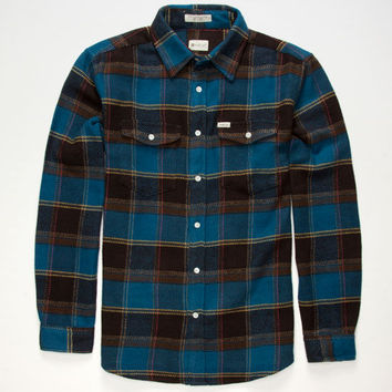 Matix Perkins Mens Flannel Shirt Indigo  In Sizes