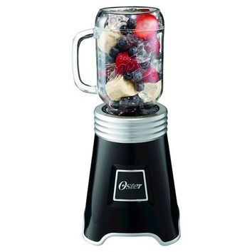 Oster® Mason Jar Blender Black/Silver, BLSTP-BALL-BK