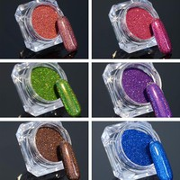 BORN PRETTY Holographic Nail Glitter Holo Laser Shinning Powder Dust Chrome Pigments Nail Art Decoration