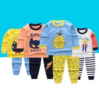 winter 2017 Newborn Baby Boy Clothes Long Sleeve Cartoon Top + Pant 2PCS Outfit Toddler Kids Clothing Set baby clothes set