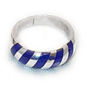 Sterling Silver Zebra Ring