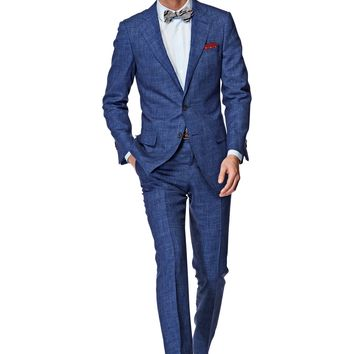 Suit Blue Check Napoli P3832i   Suitsupply Online Store