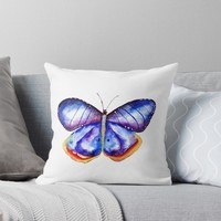 'Butterfly' Throw Pillow by Manitarka