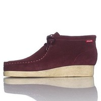 Clarks Padmore Boots Red Suede Casual Shoes 30502 Mens