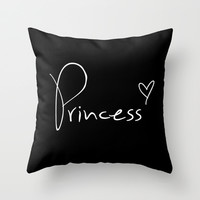 Princess Pillow Throw Pillow by RexLambo