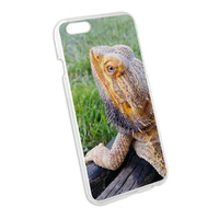 Bearded Dragon Profile - Lizard Reptile Snap On Hard Protective Case for Apple iPhone 6
