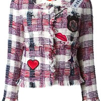 MSGM embroidered patch jacket