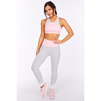 Hands Up High Athletic Leggings (Black/White Stripe)