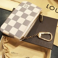 Louis Vuitton Monogram Canvas Key Pouch Key case - purse I-MYJSY-BB White