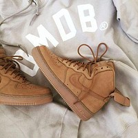 NIKE Air Force 1 Mid Women Men Fashion Casual Shoes Sneakers