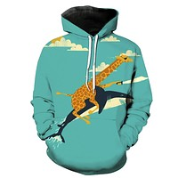 Giraffe & Shark Warriors Hoodie