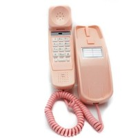 Trimline Phone - Ladies Pink - Durable Retro Novelty Telephone - An Improved Version of the Princess Phones in 1965 - Replica Retro Styling Big Button Phones For Seniors - 30 Day Money Back Guarantee - 3 Year Warranty - Desk or Wall Mountable - Unique Land