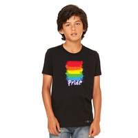 Zexpa Apparel™ Gay Pride Rainbow Color Paint Cutest Youth T-shirt Pride LGBT Tee