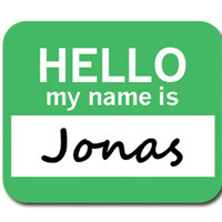 Jonas Hello My Name Is Mouse Pad